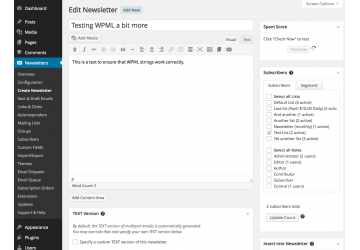 Create Newsletters